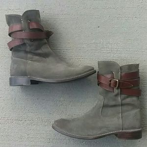 Frye taupe  suede boots  8.5